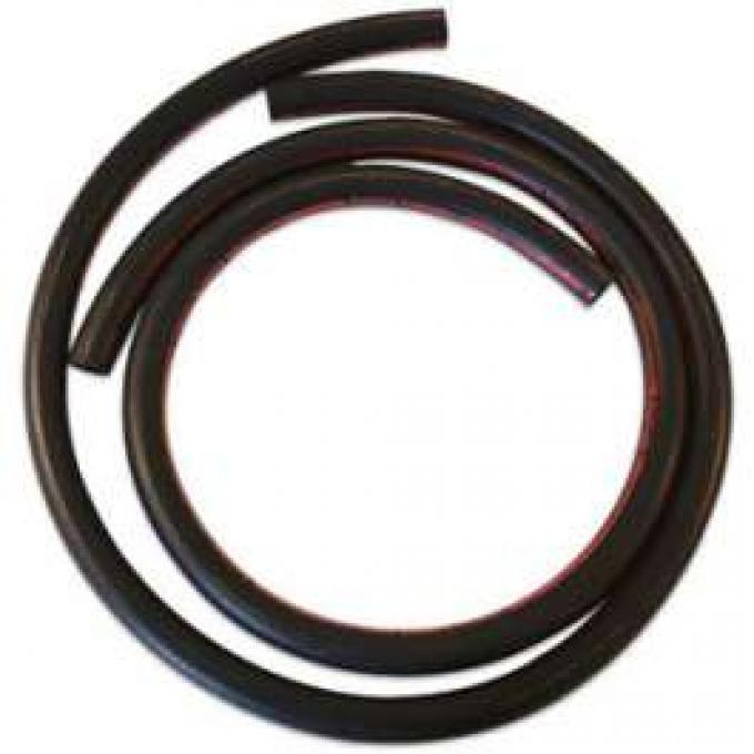Heater Hose Set - Exact Reproduction - 2 Pieces - Yellow Stripe - For Cars Without Air Conditioning