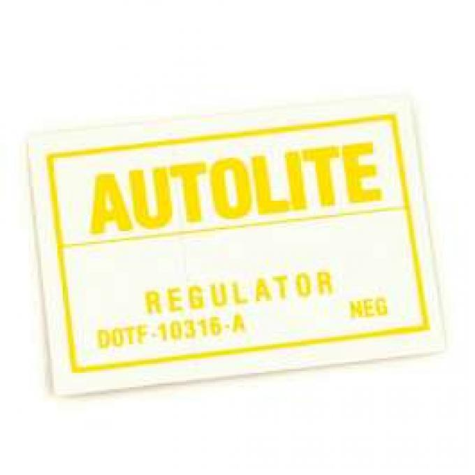 Decal - Voltage Regulator - Autolite - With Air Conditioning