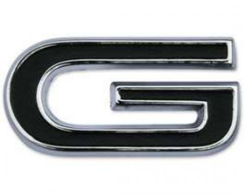 Letter - G - For GT Model - Chrome With Black Recesses