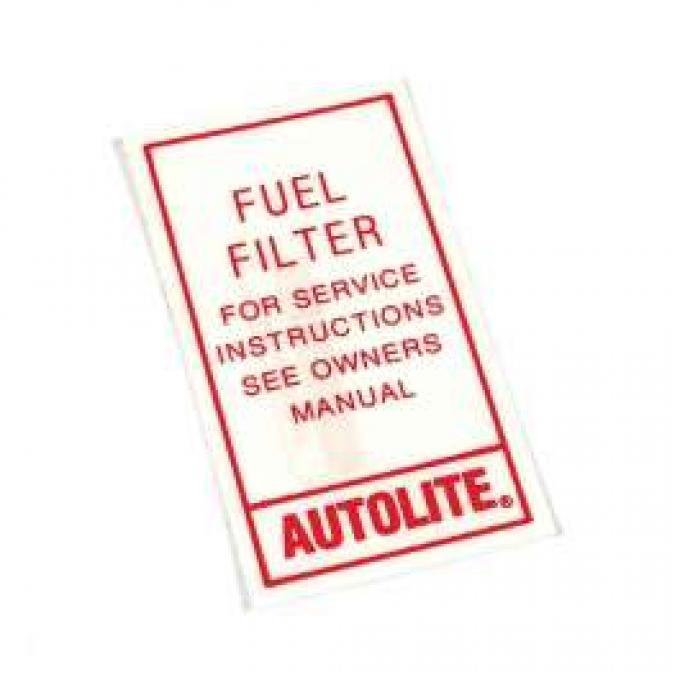 Fuel Filter Decal - Autolite