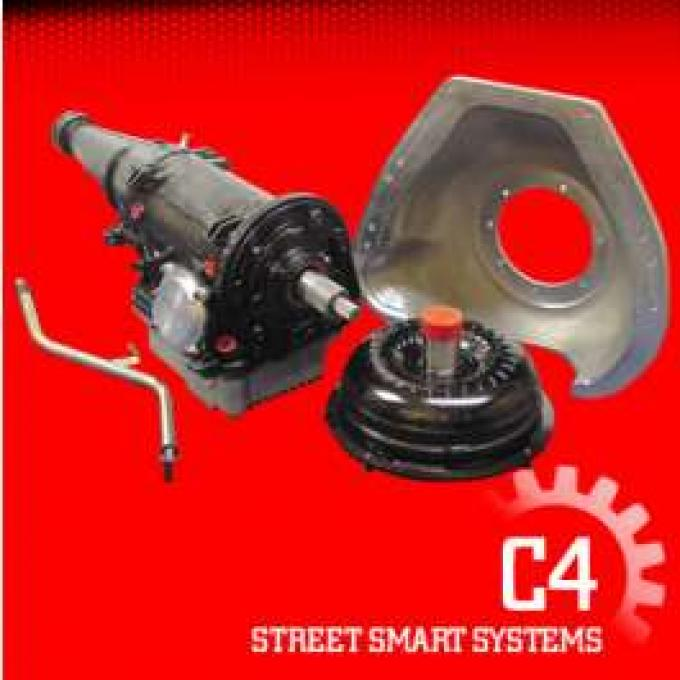 Transmission Package, Street, C4 Automatic, Big Block FE 352, 390, 406, 427, 428, 550 HP, Ford, 1964-1979