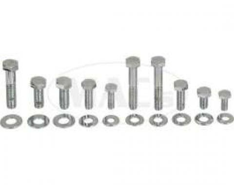Engine Hardware Kit-Headers (Small Block, Chrome)