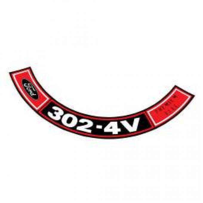 Air Cleaner Decal - 302-4V Premium Fuel