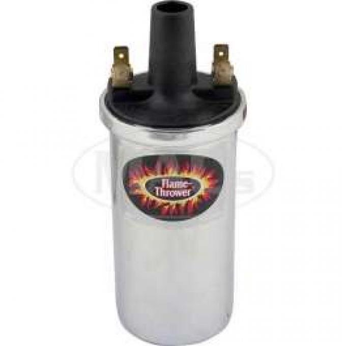 Flame Thrower II Ignition Coil - 6 or 12 Volt - Chrome - V8