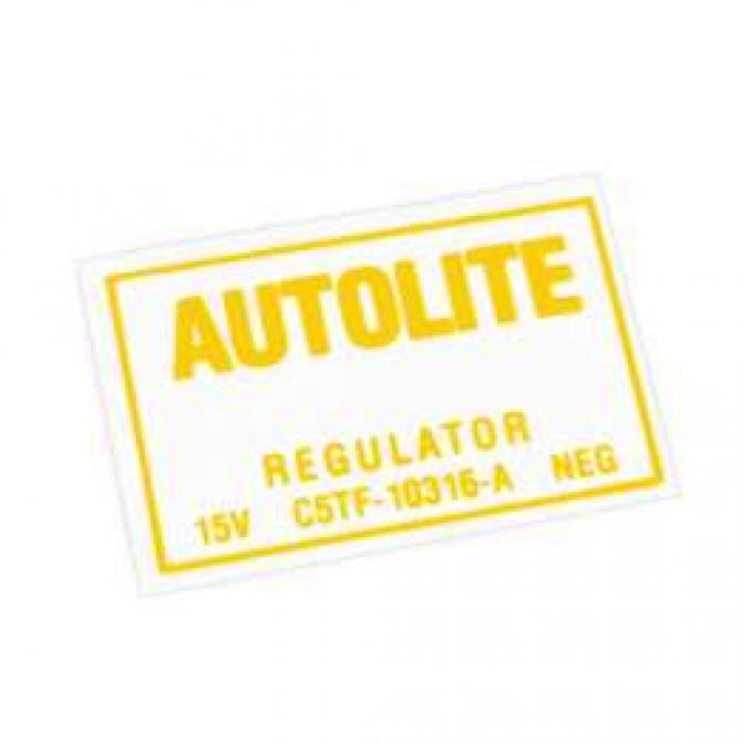 Decal - Voltage Regulator