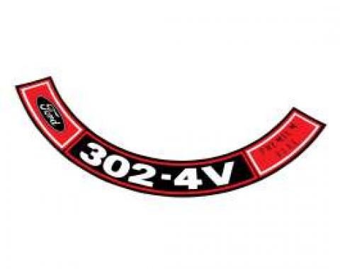 """Air Cleaner Decal /""""289 Cubic Inches 4V-Premium Fuel/"""" 1965 1966 Ford Mustang"""