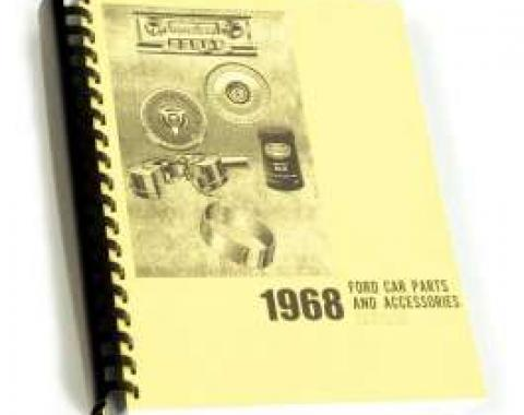 Car Parts And Accessories Manual, Ford, 1968