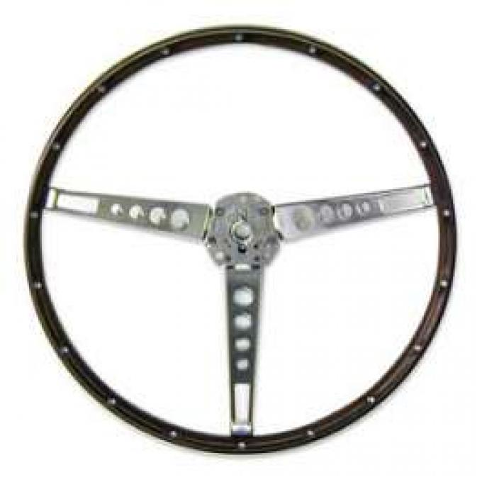 Steering Wheel - Simulated Wood Grain - 3 Spoke