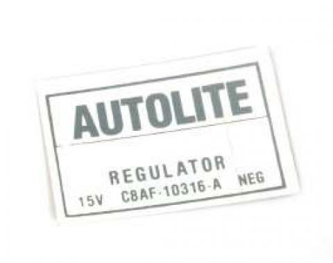 Voltage Regulator Decal