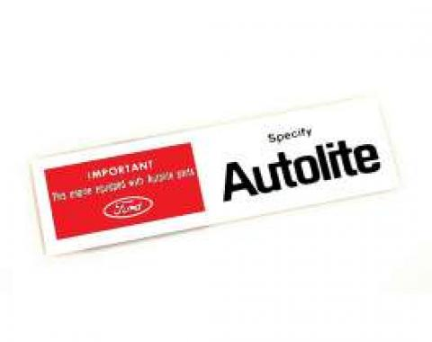Air Cleaner Decal - Autolite Replacement Parts