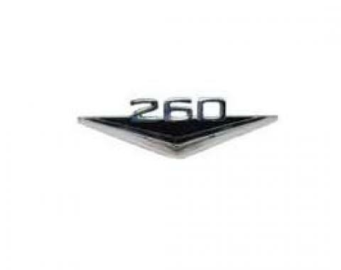 Fender Ornament - 260 - Chrome With Black Stripes