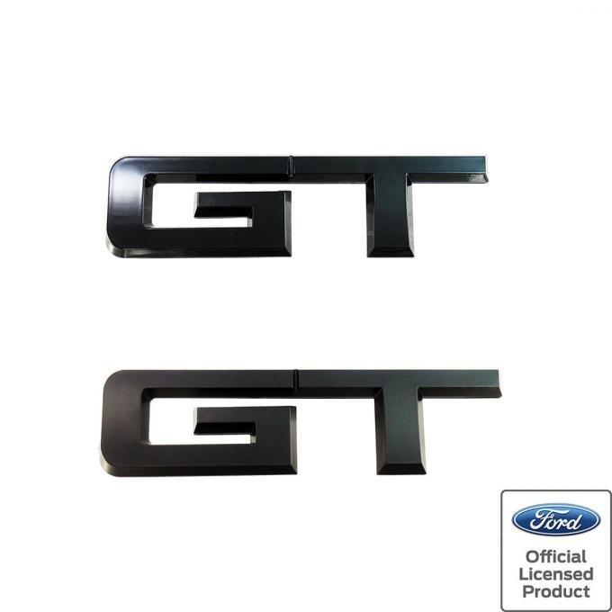 Mustang Rear GT Emblem, Gloss Black, 2015-2020