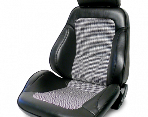 Procar Rally Seat, with Headrest, Left, Black Houndstooth