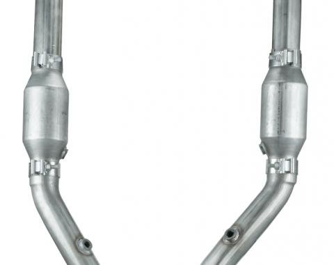 Pypes Exhaust H Pipe Catted 99-04 Mustang 2.5 in H-Pipe Hardware Incl Natural 409 Stainless Steel Exhaust HFM36E