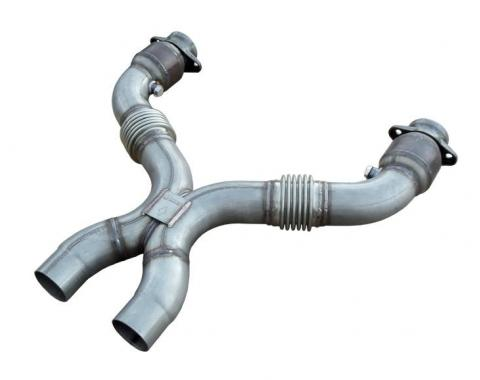 Pypes Exhaust X-Pipe Kit 3 in Catted Hardware Not Incl Natural 409 Stainless Steel For HDR76S Headers Exhaust XFM76
