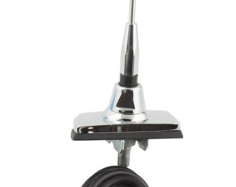 RetroSound Universal 1965-85 Ford Replacement Antenna with Rectangular Base & Collapsible Mast