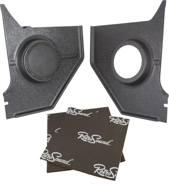 RetroSound Kick Panels for 1964-66 Ford Mustang Convertible