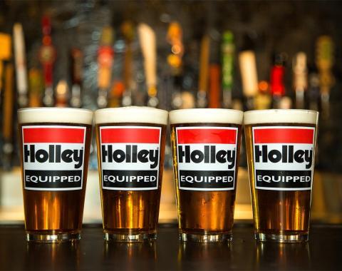 Holley Logo Pub Glass 36-432