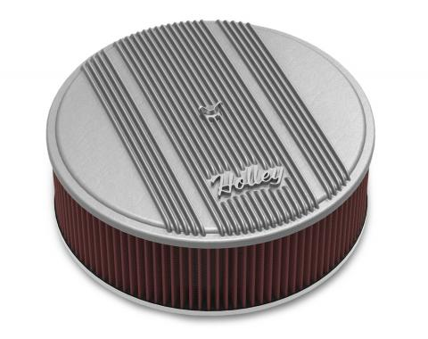 Holley Round Finned Air Cleaner 120-161