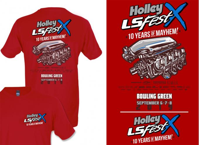 Holley 2019 LS Fest Main Event Engine T-Shirt 10224-SMHOL