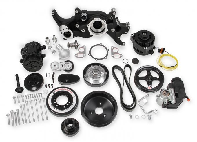 Holley Accessory Drive System Kit 20-190BK