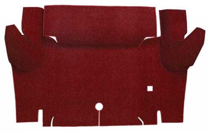 OER 1965-66 Mustang Convertible Loop Carpet Trunk Floor Mat - Maroon A4052A15