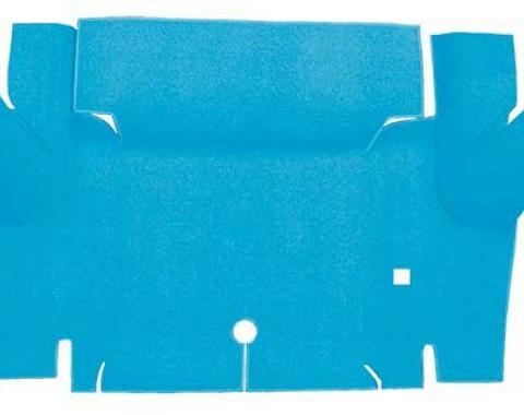 OER 1965-66 Mustang Convertible Nylon Loop Carpet Trunk Mat - Light Blue A4069A31