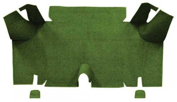 OER 1965-66 Mustang Fastback Nylon Loop Carpet Trunk Mat - Moss Green A4073A19