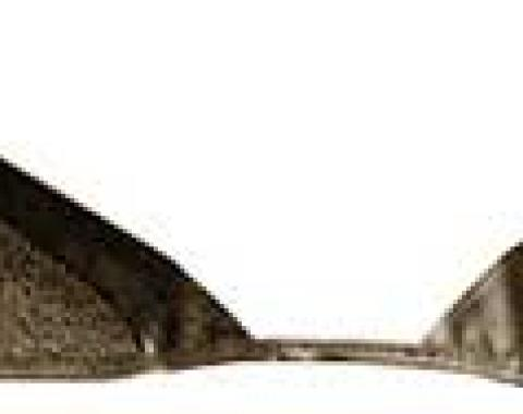 OER 1965-68 Mustang Convertible Loop Carpet Kick Panel Inserts - Medium Saddle A4072A69