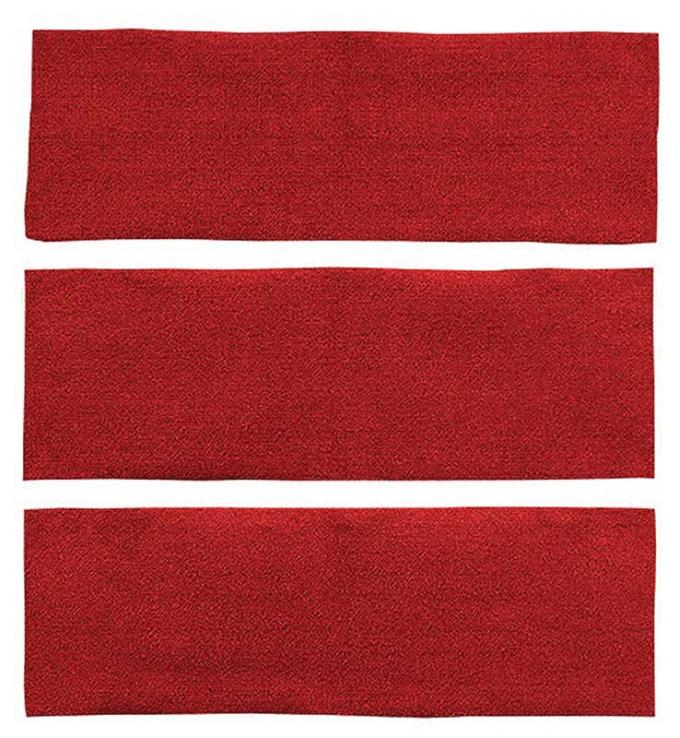 OER 1964-68 Mustang Fastback 3 Piece Fold Down Nylon Loop Carpet Set - Red A4039A02