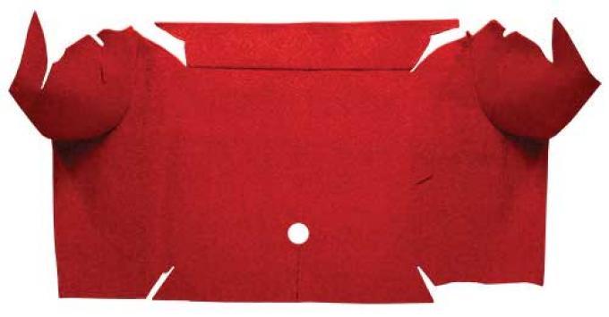 OER 1967-68 Mustang Convertible Loop Carpet Trunk Mat - Red A4064A02