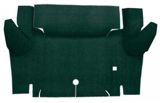 OER 1965-66 Mustang Coupe Loop Trunk Floor Carpet Mat - Dark Green A4048A13
