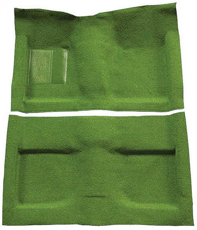 OER 1964 Mustang Convertible Passenger Area Nylon Loop Floor Carpet Set with Mass Backing - Moss Green A4033B19