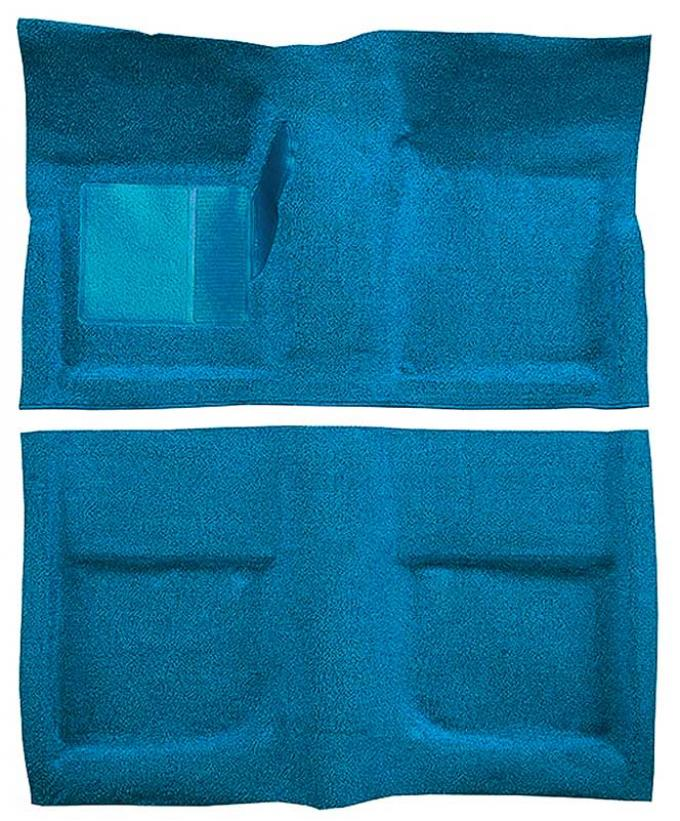 OER 1965-68 Mustang Coupe Passenger Area Nylon Loop Floor Carpet Set with Mass Backing - Light Blue A4045B31