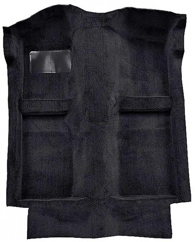 OER 1983-93 Mustang Convertible Passenger Area Floor Cut Pile Carpet with Mass Backing - Ebony A4025B13