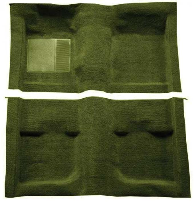OER 1971-73 Mustang Coupe / Fastback Passenger Area Nylon Loop Carpet with Mass Backing - Green A4057B39