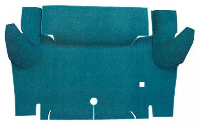 OER 1965-66 Mustang Convertible Nylon Loop Carpet Trunk Mat - Aqua A4069A06