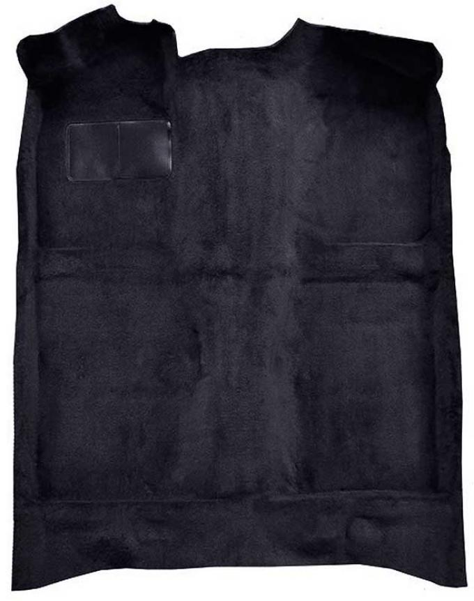 OER 1979-81 Mustang Passenger Area Cut Pile Molded Floor Carpet with Mass Backing - Black A4020B01