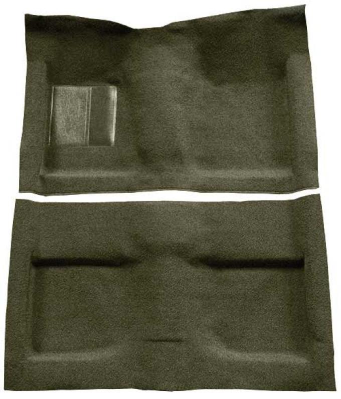 OER 1964 Mustang Convertible Passenger Area Loop Floor Carpet Set - Moss Green A4032A19