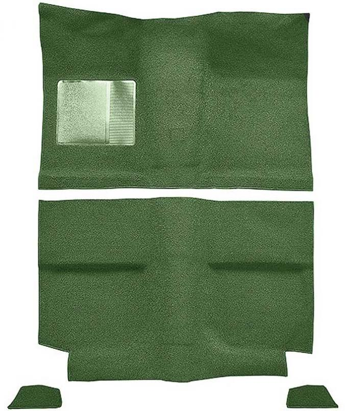OER 1964 Mustang Fastback without Folddowns Passenger Area Nylon Loop Floor Carpet - Moss Green A4035A19