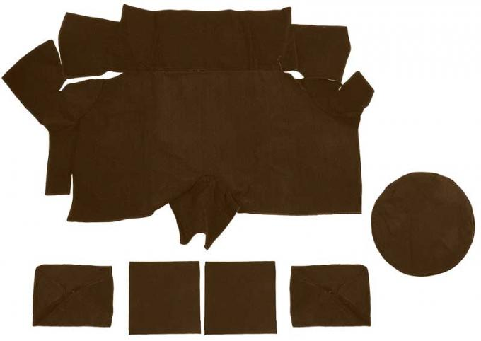 OER 1969-70 Mustang Fastback Nylon Loop Trunk Carpet Set with Boards - Ginger A4087A29