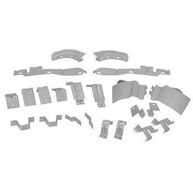OER 1969-70 Mustang Fastback Body Bracket Kit (22-Pcs) FBK6970