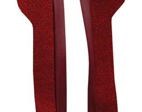 OER 1969-70 Mustang Door Panel Carpet Inserts - Maroon A4095A15