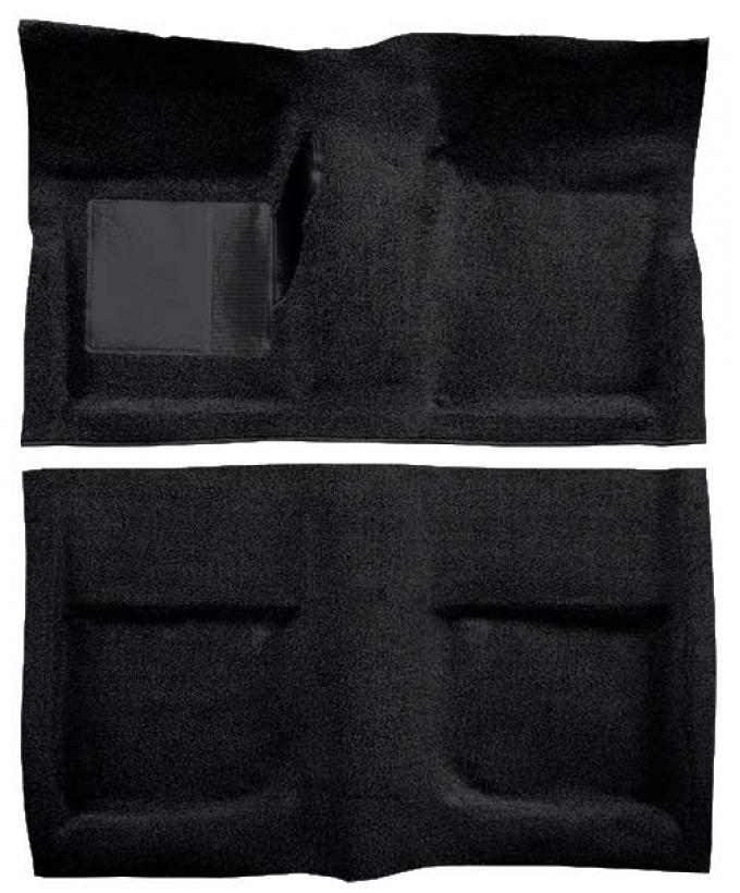 OER 1965-68 Mustang Coupe Passenger Area Loop Floor Carpet - Black A4040A01