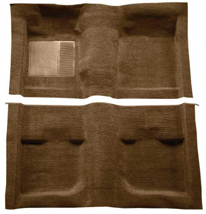 OER 1971-73 Mustang Coupe / Fastback Passenger Area Nylon Loop Carpet with Mass Backing - Ginger A4057B29