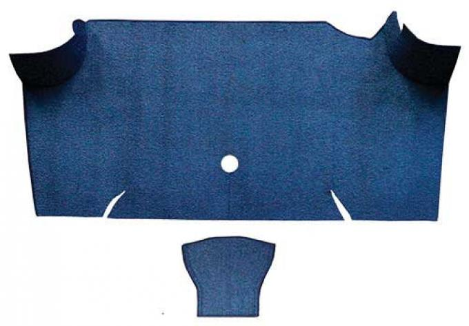 OER 1967-68 Mustang Fastback Nylon Loop Carpet Trunk Mat - Dark Blue A4085A12