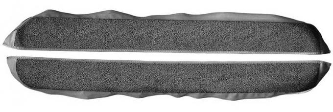 OER 1981-86 Mustang Coupe/Hatchback With Power Locks Door Panel Carpet Inserts - Graphite A413033
