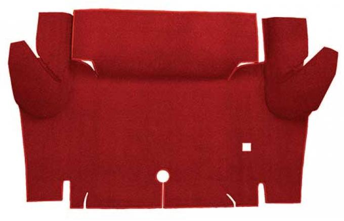 OER 1965-66 Mustang Coupe Loop Trunk Floor Carpet Mat - Red A4048A02