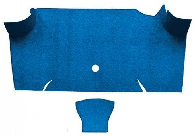 OER 1967-68 Mustang Fastback Nylon Loop Carpet Trunk Mat - Medium Blue A4085A41