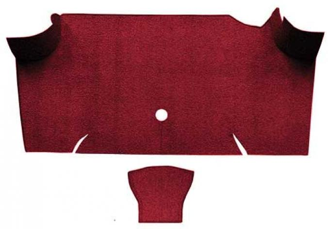 OER 1967-68 Mustang Fastback Nylon Loop Carpet Trunk Mat - Maroon A4085A15